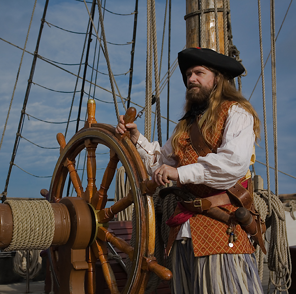 Pirate living history. School visits from the golden age of piracy
